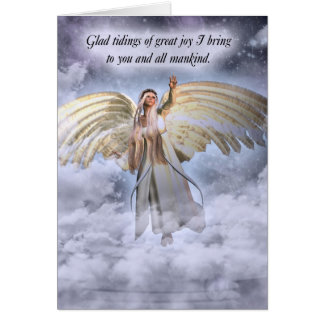 Angel Christmas Card Religious