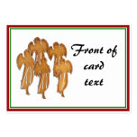 Angel Christmas Gingerbread Cookies Business Card
