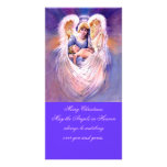 Angel christmas photo card