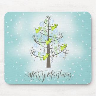 Angel Christmas Tree Blue ID197 Mouse Pad