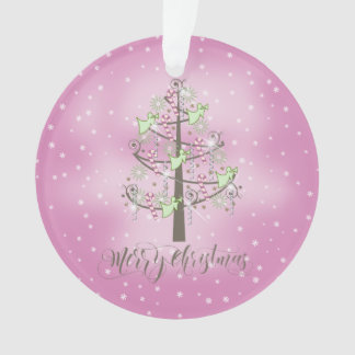 Angel Christmas Tree Orchid Pink ID197 Ornament