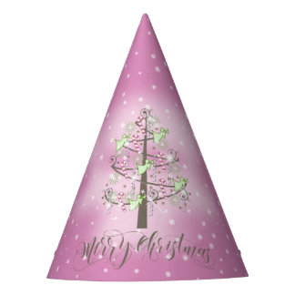 Angel Christmas Tree Orchid Pink ID197 Party Hat