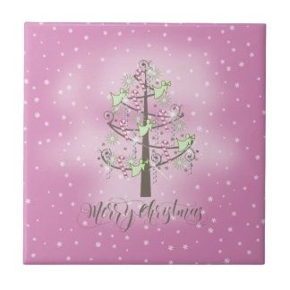 Angel Christmas Tree Orchid Pink ID197 Tile