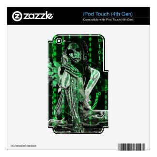 Ángel cibernético calcomanía para iPod touch 4G