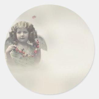 Angel Classic Round Sticker