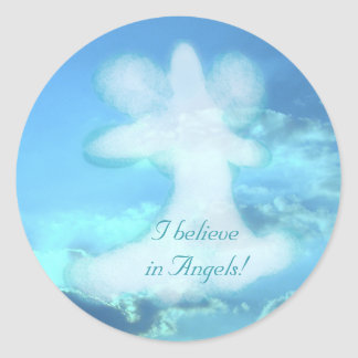 Angel Collection Classic Round Sticker