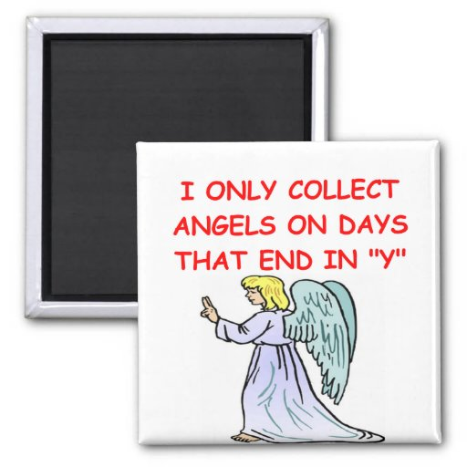 angel collector 2 inch square magnet
