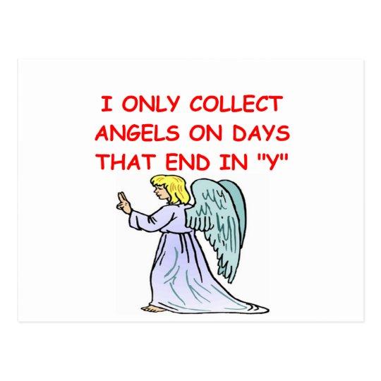 angel collector postcard