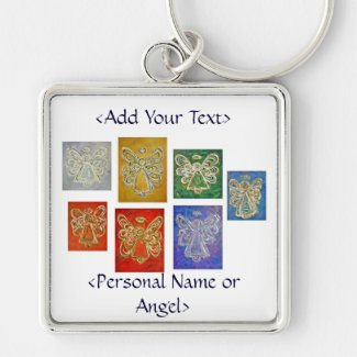 Angel Color Series Keychain Customized Message