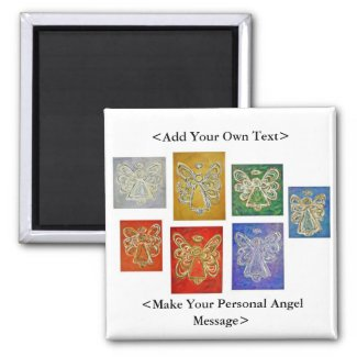 Angel Color Series Magnet Customized Text Options