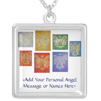 Angel Color Series Necklace Customized Names