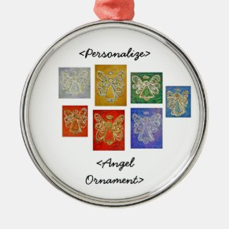 Angel Color Series Ornament Customized Greeting