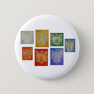 Angel Color Series Paintings Button
