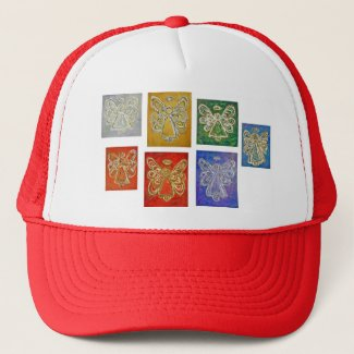 Angel Color Series Paintings Hat or Cap
