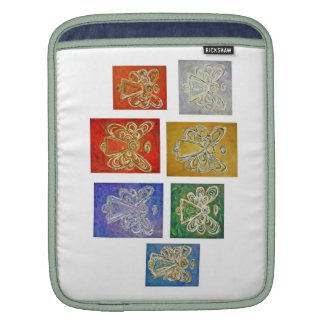 Angel Color Series Paintings iPad Computer Sleeve