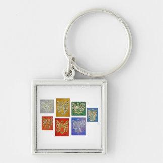 Angel Color Series Paintings Keychain
