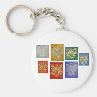 Angel Color Series Paintings Keychain