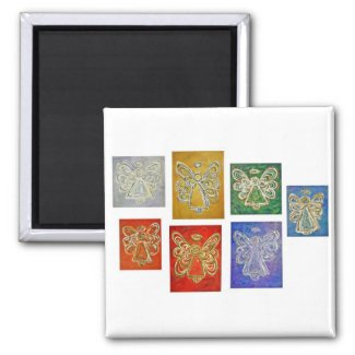 Angel Color Series Paintings Magnets
