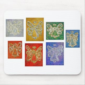 Angel Color Series Paintings Mousepad