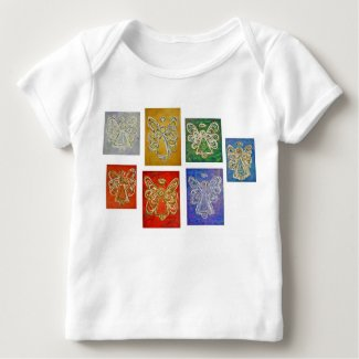 Angel Color Series Paintings T-shirt (Double Side)