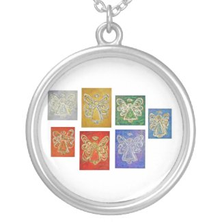Angel Color Series Silver Necklace