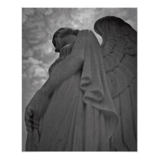 Ángel con alas poster