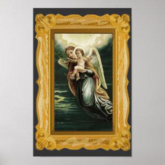 Ángel con el bebé Jesús Impresiones