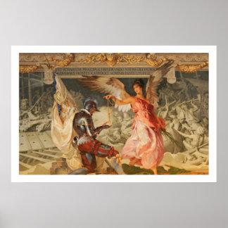Ángel con el rosario póster