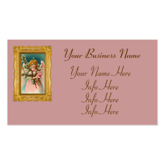 Ángel con el vestido rosado bonito tarjetas de visita