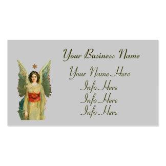 Ángel con la estrella del oro tarjetas de visita