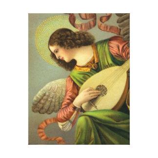 Ángel con la mandolina lona estirada galerias