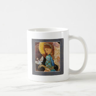 Ángel con la paloma taza