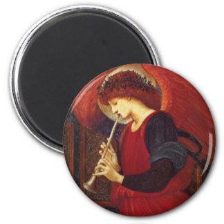 Ángel con la trompeta, Burne Jones Imán Redondo 5 Cm