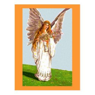 Ángel con la venda y las flores del Kaftan Postal