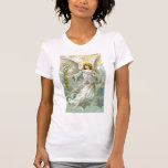 Ángel con los lirios de pascua camiseta