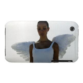 Ángel con los ojos cerrados iPhone 3 Case-Mate coberturas