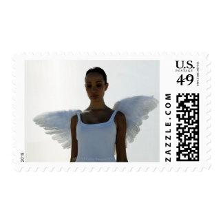 Ángel con los ojos cerrados sello