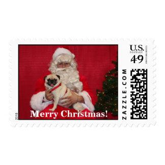 ¡Ángel con Santa [1], Felices Navidad! Sellos