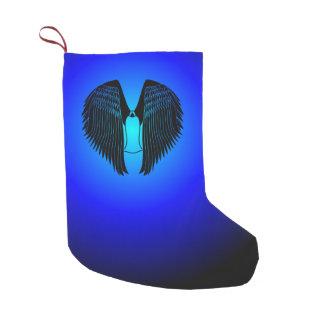 Ángel con túnica calcetín navideño pequeño