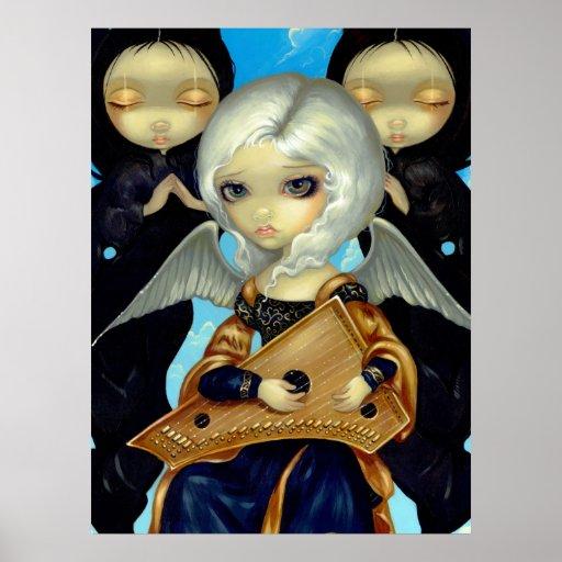 Ángel con una hada gótica de la IMPRESIÓN del ARTE Posters