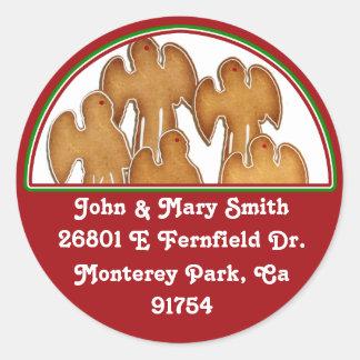 Angel Cookie Choir Classic Round Sticker