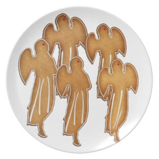 Angel Cookie Choir Plates