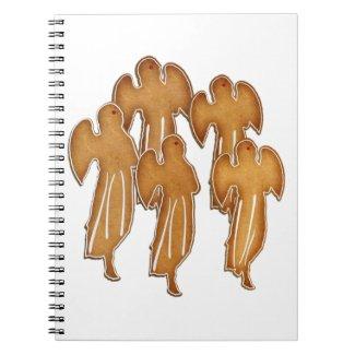 Angel Cookie Choir Spiral Notebooks