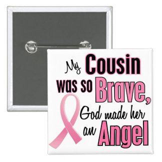 Angel COUSIN Breast Cancer T-Shirts & Gifts Pinback Button
