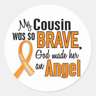 Angel Cousin (Female) Leukemia Classic Round Sticker