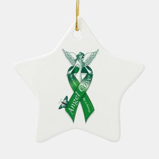 Angel Cove Transplant Awareness Ceramic Ornament