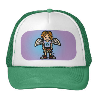 angel coverage. trucker hat