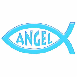 Ángel cristiano de los pescados - escultura de la  imán fotoescultura