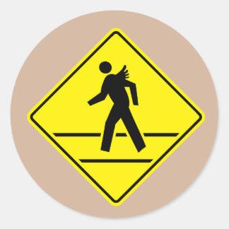Angel Crossing Sticker
