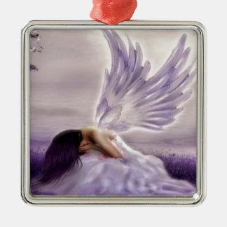 angel crying.jpg metal ornament